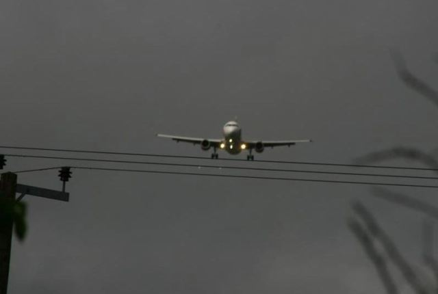 Airplane Landing on Wires