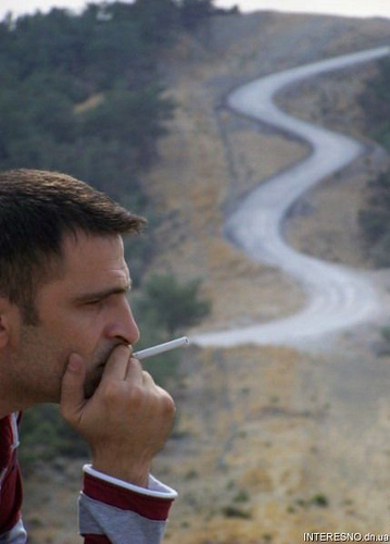 smoking road