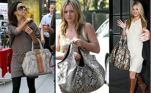 Python Handbags Celebrities