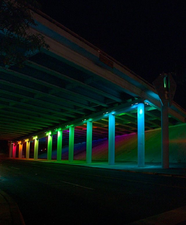 Bill Fitzgibbons S Decorates Underpasses In Texas With