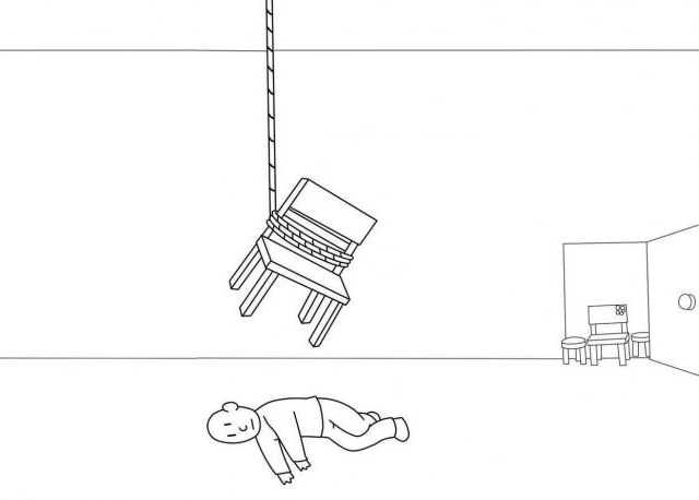chair committing suicide