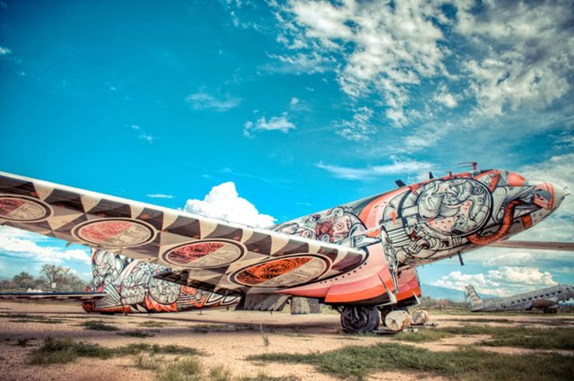Artists give new life to abondoned planes (19)