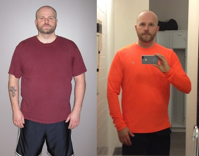 Dan Holliday, lost 70lbs in 7 months