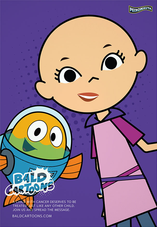 headed comic strip Bald