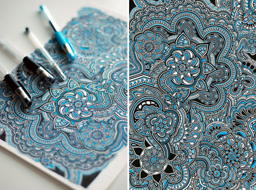 Artist Spends Around 40 Hours Making An Intricate Drawing