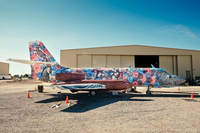 Artists give new life to abondoned planes (18)