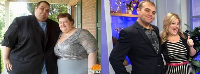 Justin and Lauren combined lost 524lbs in 19 months