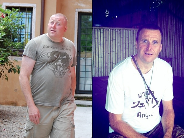 Tim Bushell, lost 75 lbs in 18 months