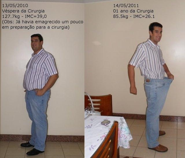 Ubiratã Muniz Silva, lost 95lbs in an year