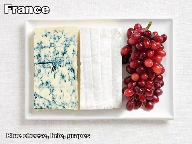 france-flag-made-from-food