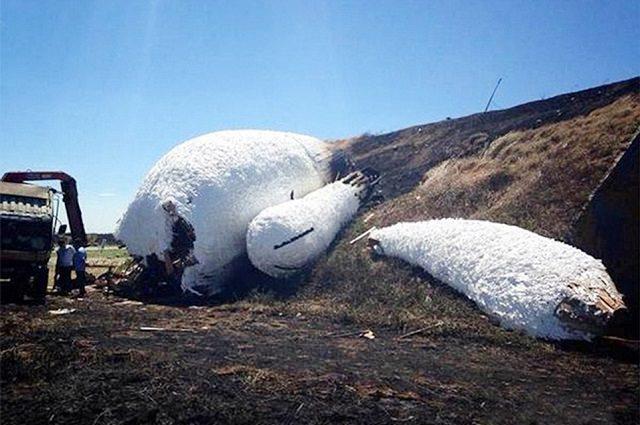 Moon Rabbit By Duck Artist Destroyed In Blaze